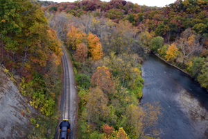Explore the Cuyahoga Valley National Park by Train